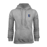 City College of Technology  Grey Fleece Hoodie-CUNY Shield