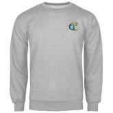 City College of Technology  Grey Fleece Crew-Official Logo