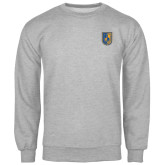 City College of Technology  Grey Fleece Crew-CUNY Shield