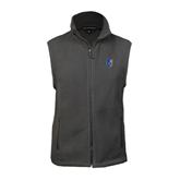 Fleece Full Zip Charcoal Vest-CUNY Shield