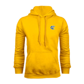 City College of Technology  Gold Fleece Hoodie-Official Logo
