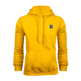 City College of Technology  Gold Fleece Hoodie-CUNY Shield