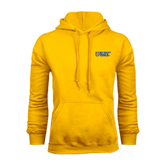City College of Technology  Gold Fleece Hoodie-New York City College Of Technology w/ Shield