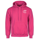 City College of Technology  Fuchsia Fleece Hoodie-Official Logo