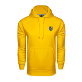 City College of Technology  Under Armour Gold Performance Sweats Team Hoodie-CUNY Shield