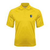 Gold Textured Saddle Shoulder Polo-CUNY Shield