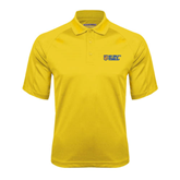 Gold Textured Saddle Shoulder Polo-New York City College Of Technology w/ Shield