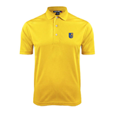 City College of Technology  Gold Dry Mesh Polo-CUNY Shield