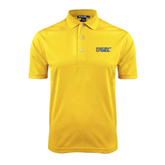 City College of Technology  Gold Dry Mesh Polo-New York City College Of Technology w/ Shield