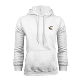 City College of Technology  White Fleece Hoodie-Official Logo