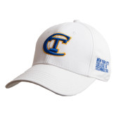 City College of Technology  White Heavyweight Twill Pro Style Hat-Official Logo