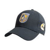 City College of Technology  Black Heavyweight Twill Pro Style Hat-CUNY Shield
