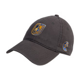 City College of Technology  Charcoal Twill Unstructured Low Profile Hat-CUNY Shield