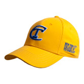 City College of Technology  Gold Heavyweight Twill Pro Style Hat-Official Logo