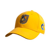 City College of Technology  Gold Heavyweight Twill Pro Style Hat-CUNY Shield