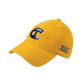 City College of Technology  Gold Flexfit Mid Profile Hat-Official Logo