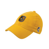 City College of Technology  Gold Flexfit Mid Profile Hat-CUNY Shield