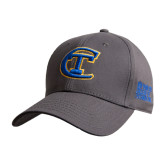 City College of Technology  Charcoal Heavyweight Twill Pro Style Hat-Official Logo