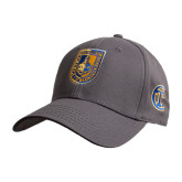 City College of Technology  Charcoal Heavyweight Twill Pro Style Hat-CUNY Shield