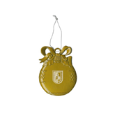 Gold Bulb Ornament-CUNY Shield Engraved