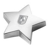 Silver Star Paperweight-CUNY Shield Engraved