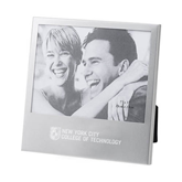 Silver 5 x 7 Photo Frame-New York City College Of Technology w/ Shield Engraved