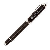 Luna Black Rollerball Pen-New York City College Of Technology w/ Shield Engraved