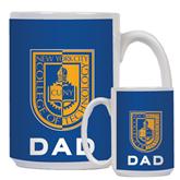 Dad Full Color White Mug 15oz-CUNY Shield