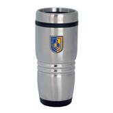 City College of Technology  Rolling Ridges Silver Stainless Tumbler 16oz-CUNY Shield