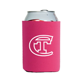 City College of Technology  Neoprene Hot Pink Can Holder-Official Logo