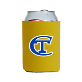City College of Technology  Neoprene Gold Can Holder-Official Logo