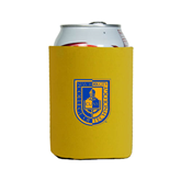 City College of Technology  Neoprene Gold Can Holder-CUNY Shield
