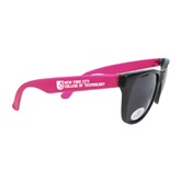 City College of Technology  Black/Hot Pink Sunglasses-New York City College Of Technology w/ Shield