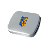 City College of Technology  Silver Rectangular Peppermint Tin-CUNY Shield