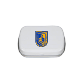 City College of Technology  White Rectangular Peppermint Tin-CUNY Shield