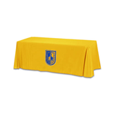 Gold 6 foot Table Throw-CUNY Shield