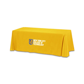 Gold 6 foot Table Throw-New York City College Of Technology w/ Shield