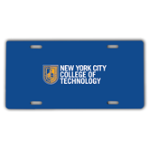 License Plate-New York City College Of Technology w/ Shield