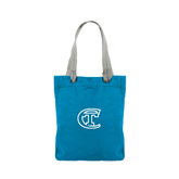 Allie Turquoise Canvas Tote-Official Logo