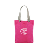Allie Fuchsia Canvas Tote-Official Logo