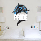 2.5 ft x 6.5 ft Fan WallSkinz-Dolphin Pride