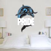 2.5 ft x 6.5 ft Fan WallSkinz-Dolphin Pride