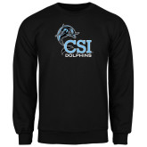 College of Staton Island Black Fleece Crew-Official Logo