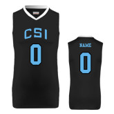 College of Staton Island Replica Black Adult Basketball Jersey-Personalized