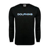 Black Long Sleeve TShirt-Dolphins