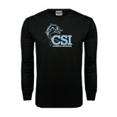 Black Long Sleeve TShirt-Cheerleading
