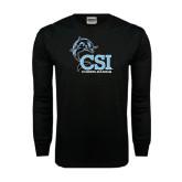Black Long Sleeve TShirt-Cheerleading