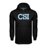College of Staton Island Under Armour Black Performance Sweats Team Hoodie-CSI