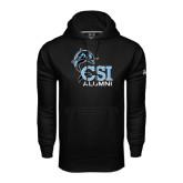 College of Staton Island Under Armour Black Performance Sweats Team Hoodie-Alumni