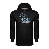 College of Staton Island Under Armour Black Performance Sweats Team Hoodie-Baseball